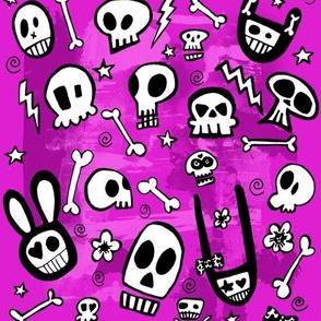 FunSkulls Purple Background