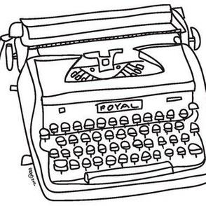 Royal Typewriter (black & white)
