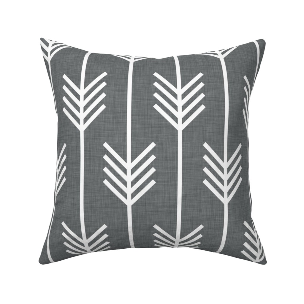 Catalan Throw Pillow featuring arrows_gray by holli_zollinger