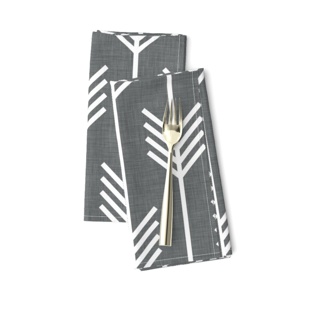 Amarela Dinner Napkins featuring arrows_gray by holli_zollinger