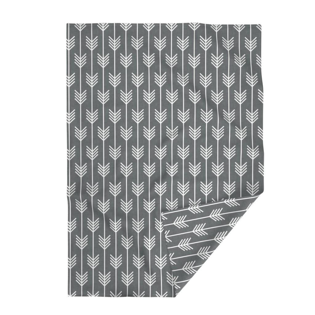 Lakenvelder Throw Blanket featuring arrows_gray by holli_zollinger