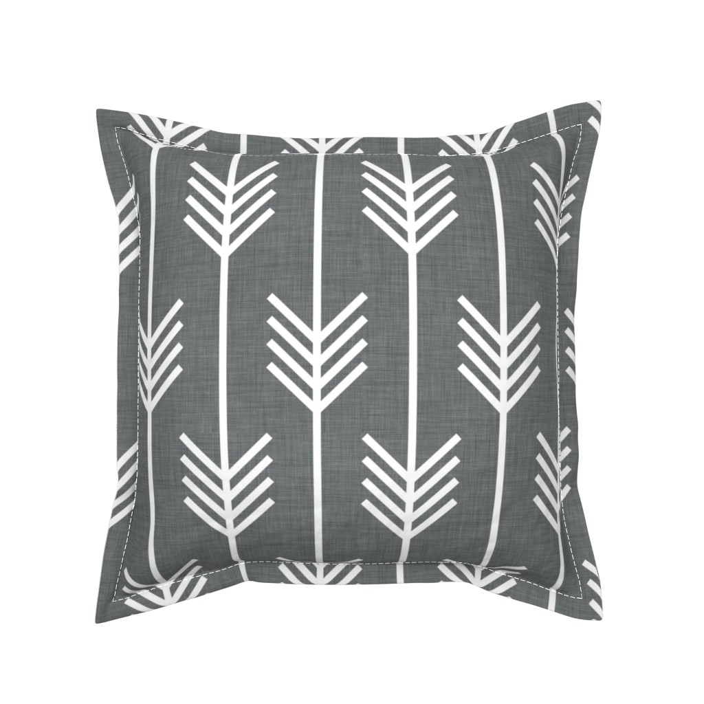 Serama Throw Pillow featuring arrows_gray by holli_zollinger