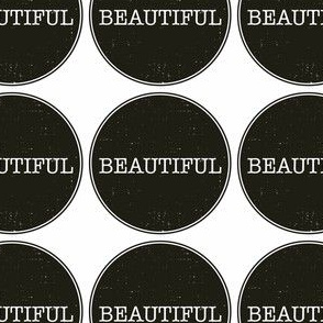 Beautiful on black