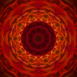 Abstract Orange and Red Radial Pattern tile10