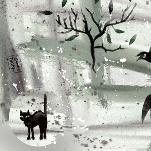 Halloween_Crows_and_Bats