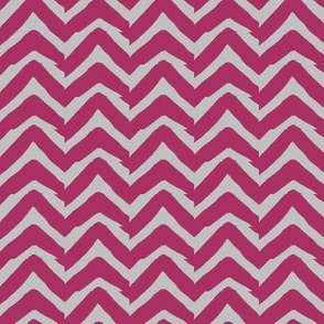 Burgundy Grey Jagged Electric Chevron