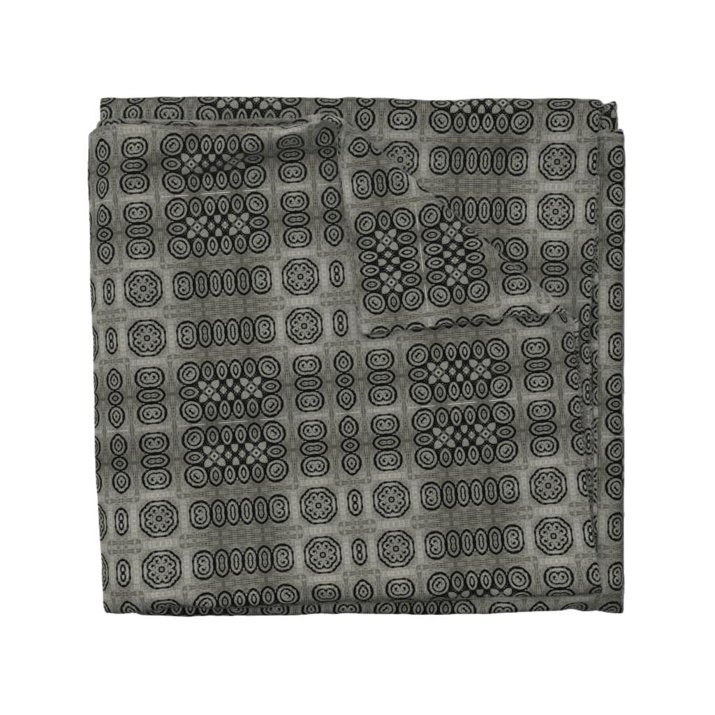 Wyandotte Duvet Cover featuring Ikat Charcoal Primitive Weave by wren_leyland