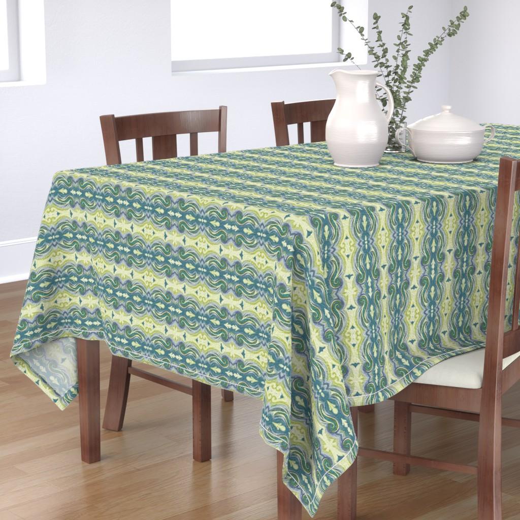 Bantam Rectangular Tablecloth featuring Aegean Greek Stucco by wren_leyland