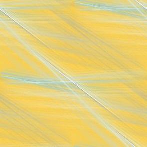 Aqua Flames on Yellow