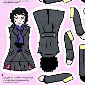 LARGE Sherlock Doll for Heavy Twill
