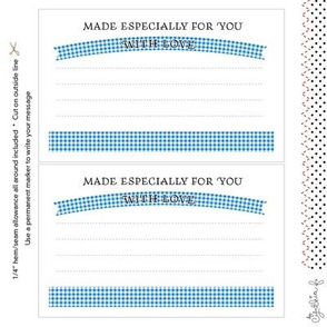 Quilt Label: Made Especially For You, Blue Gingham