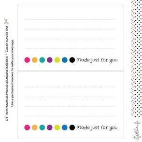 Quilt Label: Selvedge Dots