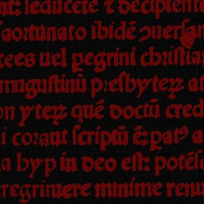 Ancient Parchment ~ Black and Red