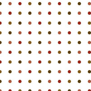 Small dots in earthtones