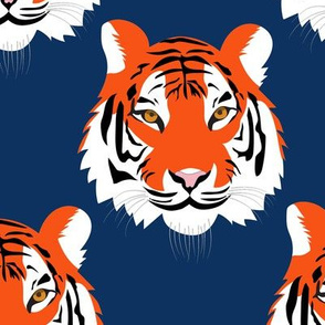 jungle tigers in Orange and Navy