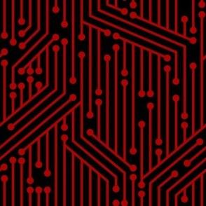 Printed Circuit Board (Black & Red)