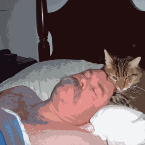A Guy and his Cat