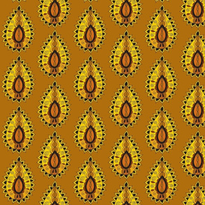 earth paisley teardrop brown