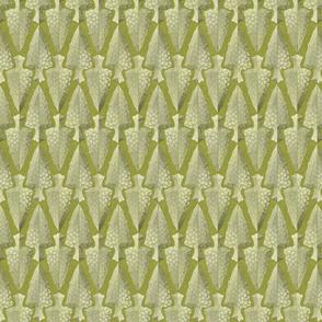 arrowheads green gold