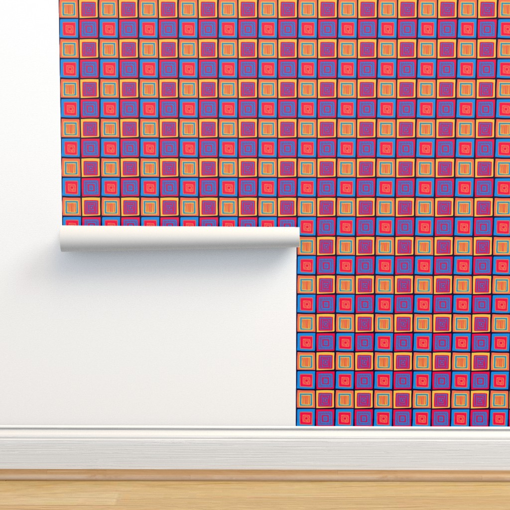 Isobar Durable Wallpaper featuring Summer Tribal Squares by Cheerful Madness!! by cheerfulmadness_cartoons
