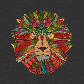 lion head lead linen custom 8 inch