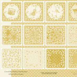 holiday_cocktail_napkins - gold