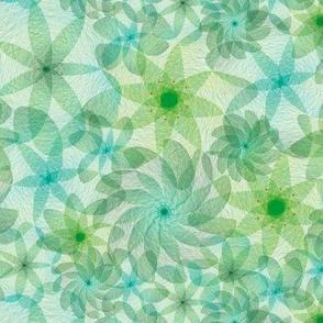 Aqua green exposure