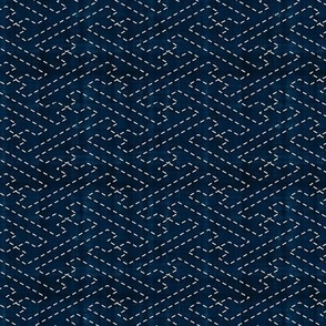 Sashiko: Sayagata - Interlocked Manji