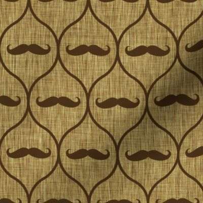 Mustache wallpaper burlap - Spoonflower