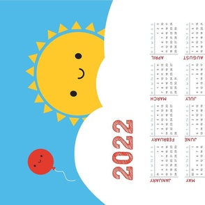 Happy Sun 2021 Tea Towel Calendar