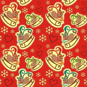 Red Reindeer Sleigh