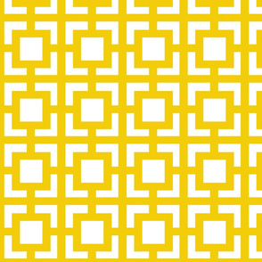 Moroccan Square in Sunny Yellow