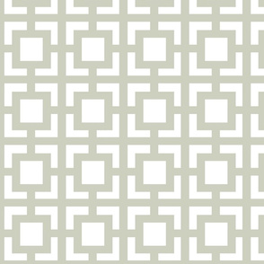Moroccan Square in Light Gray Sage