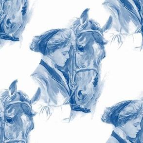 Equestrienne ~ Blue & White