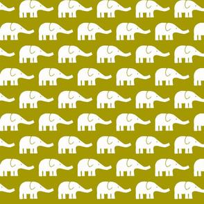 MEDIUM Elephants in olive green