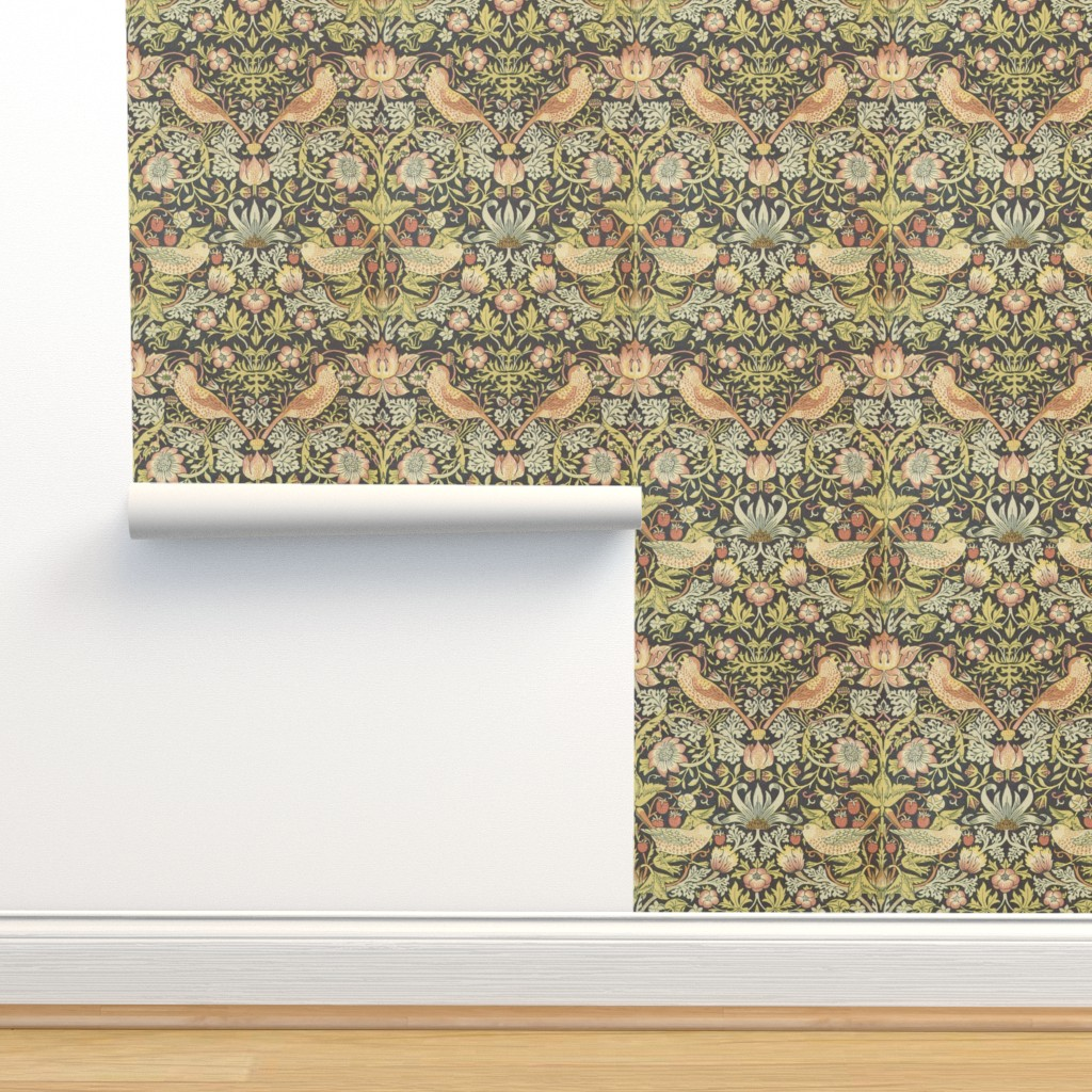 Isobar Durable Wallpaper featuring William Morris ~ Strawberry Thief by peacoquettedesigns