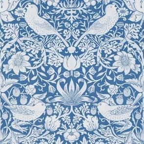 William Morris ~ Strawberry Thief ~ Blue & White