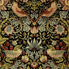 William Morris ~ Strawberry Thief ~ Intense