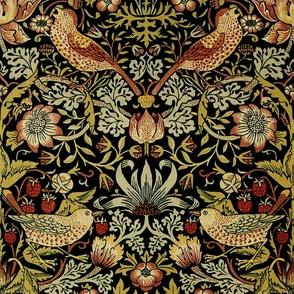 William Morris ~ Strawberry Thief ~ Intense