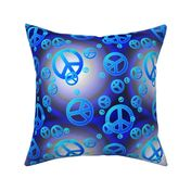 Margie/'s Doo-rags Blue with Peace Signs
