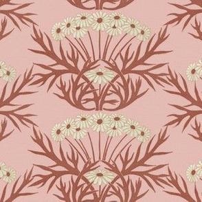 Art Nouveau Daisies ~ Pink
