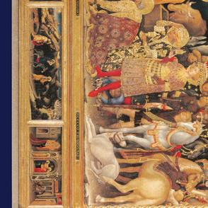 The Nativity Scene Border Print