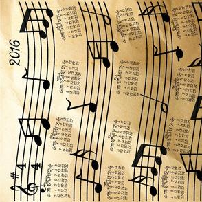 A Year Of Music Tea Towel Calendar 2016