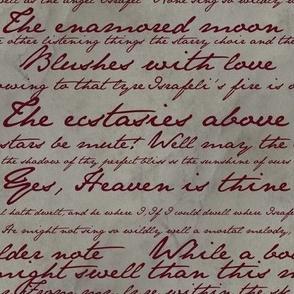 Edgar Allan Poe ~ Israfel ~ Poem in Blood Red on Parchment
