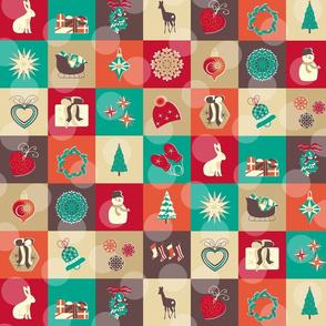 "5"" squares North Christmas"