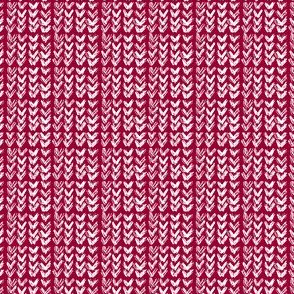 Hand Knit - 11 Cabernet Reverse