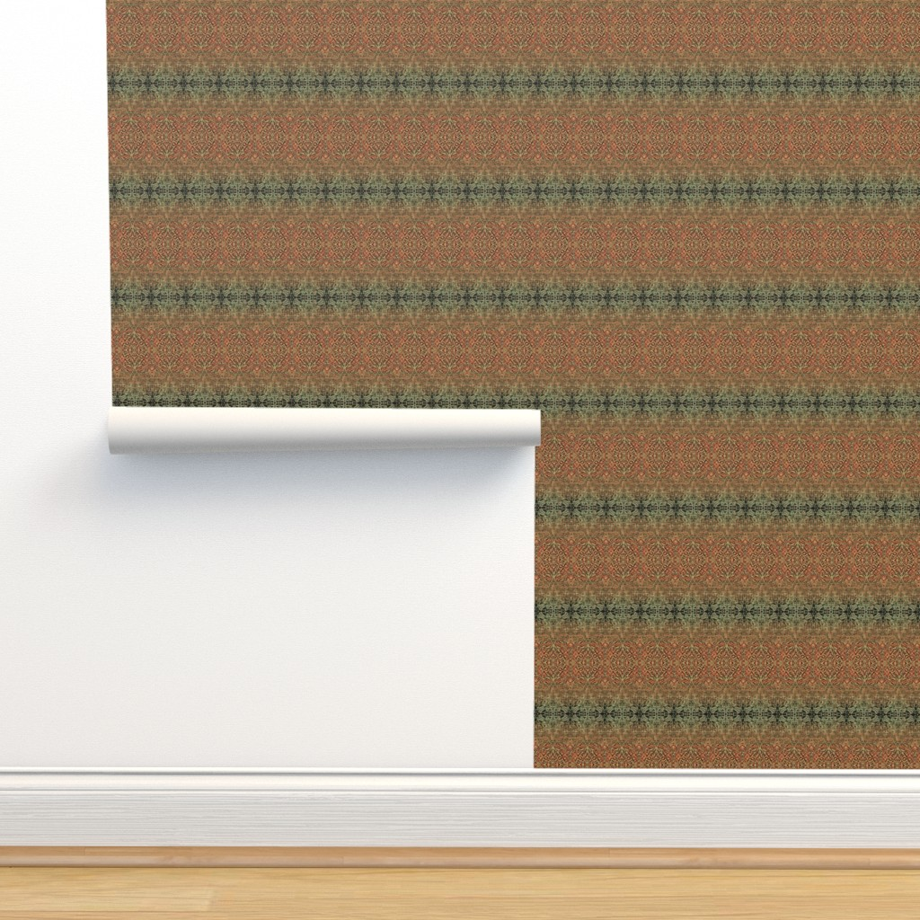 Isobar Durable Wallpaper featuring Tapestry Christmas - Antique Red and Green by wren_leyland