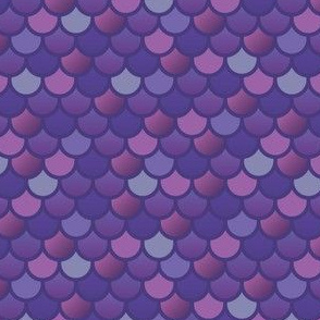 Mermaid fish scales in purple and pink