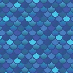 Mermaid fish scales in blues
