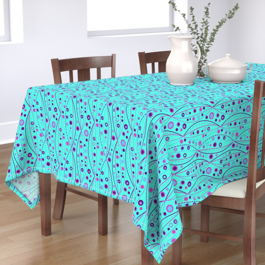 Bantam Rectangular Tablecloth featuring Blue Purple Abysses by Cheerful Madness!! by cheerfulmadness_cartoons